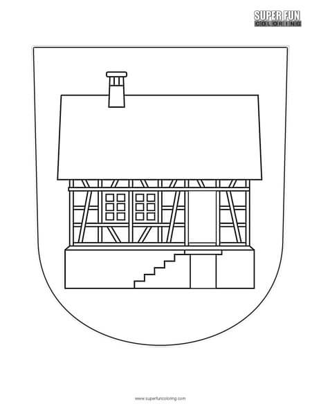 Hausen Albis Coat of Arms Coloring Page