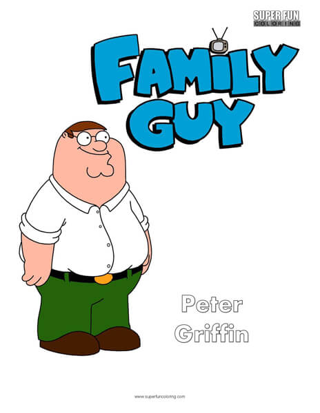 Peter Griffin- Family Guy Coloring Page