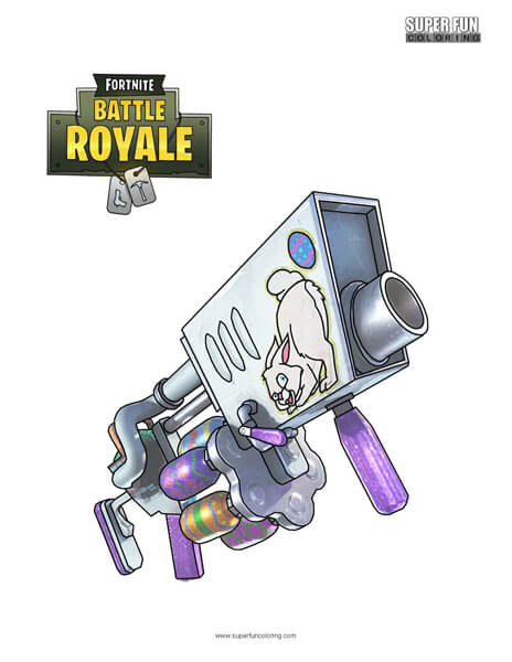 Fortnite Egg Launcher Coloring Page