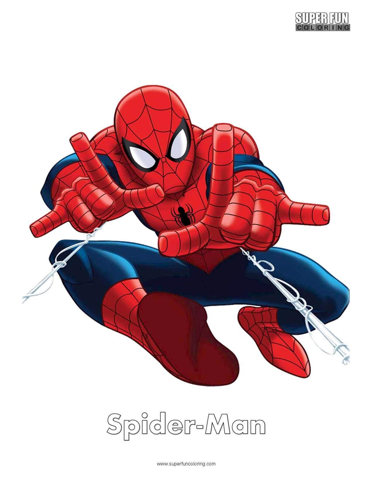 Spider-Man Free Superhero Coloring Page