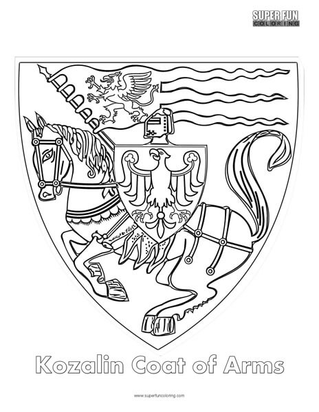 Kozalin Coat of Arms Coloring Page