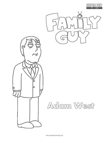 Adam West- Family Guy Coloring Page
