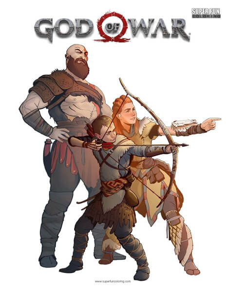 God of War Coloring Page