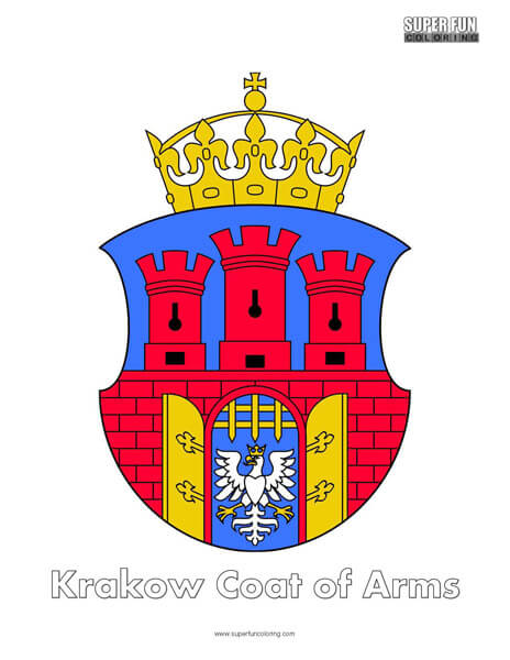 Krakow Coat of Arms Coloring