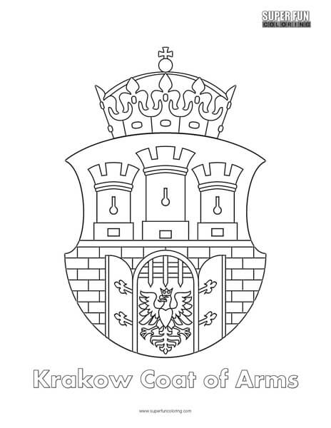 Krakow Coat of Arms Coloring Page