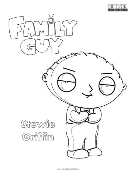 Stewie Griffin Family Guy Coloring Page Super Fun Coloring