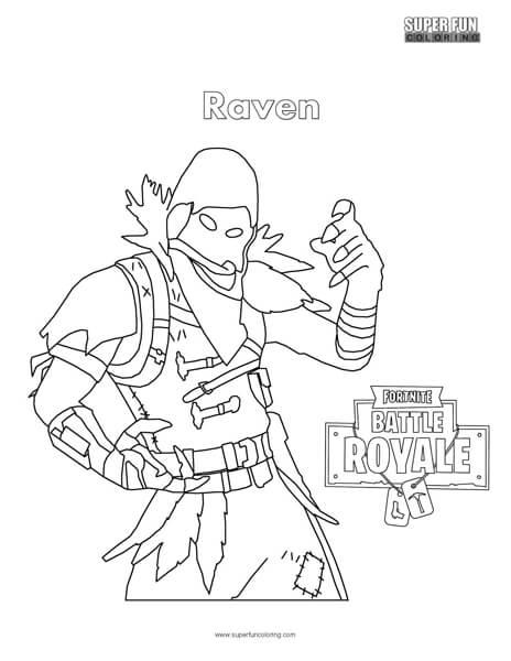 Fortnite Raven Coloring Page - Super Fun Coloring