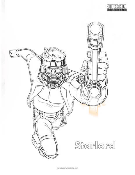 Starlord Coloring Page Super Fun Coloring