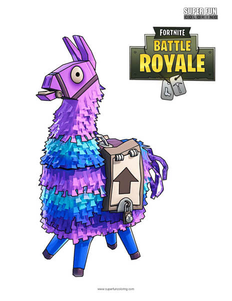 Llama Fortnite Coloring Page Super Fun Coloring