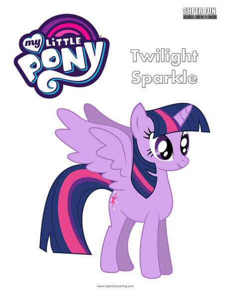 Twilight Sparkle My Little Pony Coloring Page