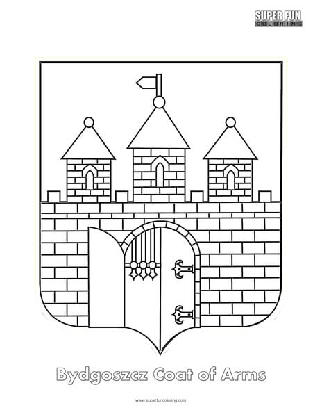 Bydgoszcz Coat of Arms Coloring Page