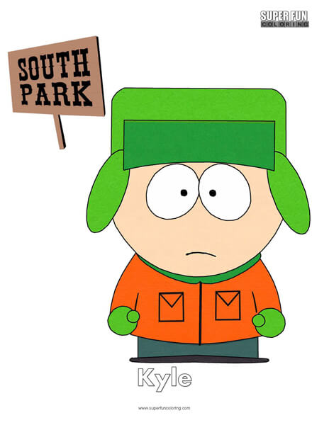 Kyle South Park Coloring Page