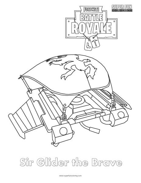 Sir Glider the Brave Skin Fortnite Coloring Page