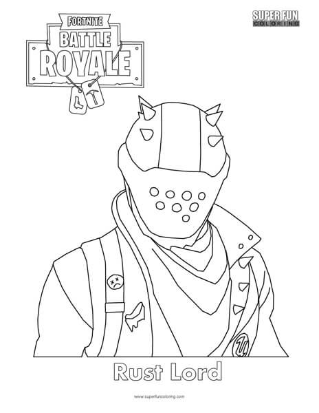 Rust Lord Skin Fortnite Coloring Page