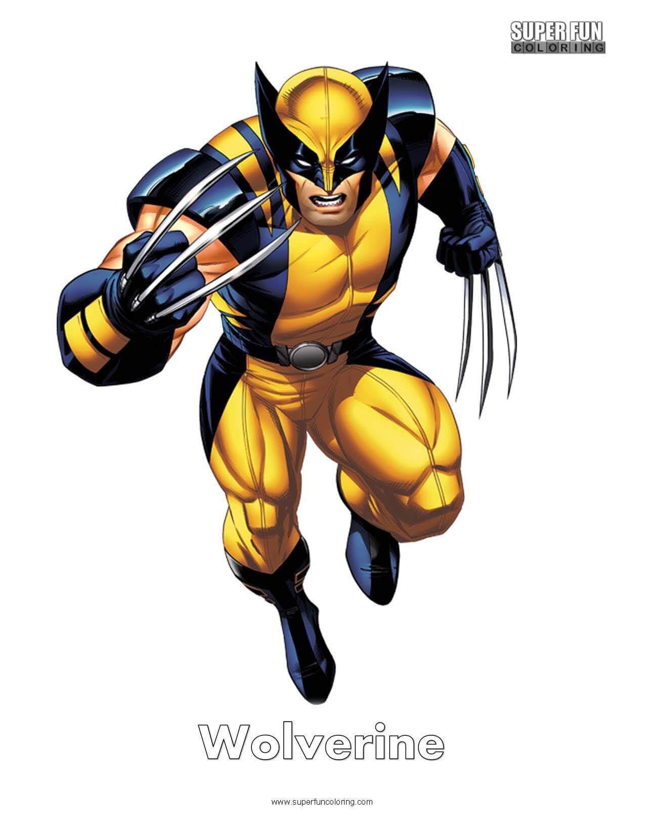 Wolverine Free Superhero Coloring Page