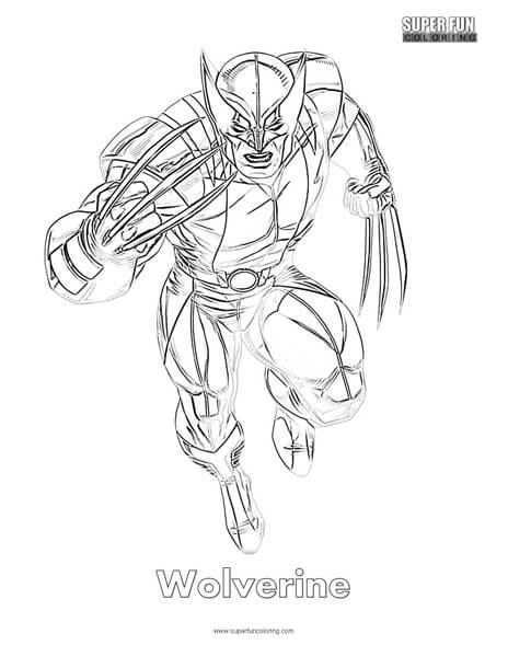 Wolverine Coloring Page