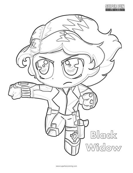 Black Widow Coloring Page Super Fun Coloring