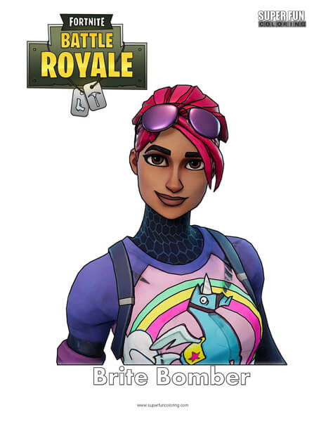 Brite Bomber Skin Coloring Page