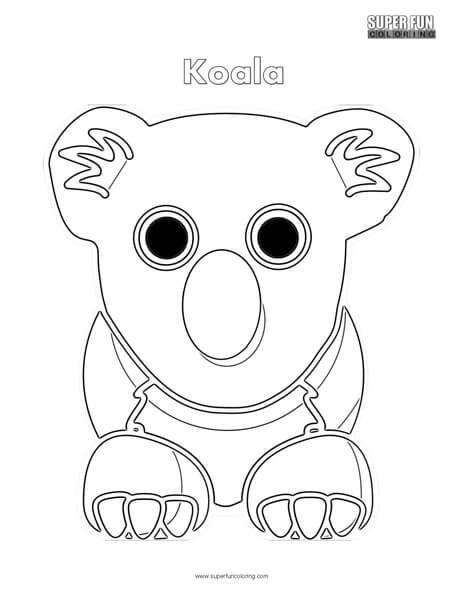 Cartoon Koala Coloring Page
