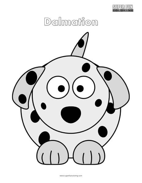 Cartoon Dalmation Coloring Page Free