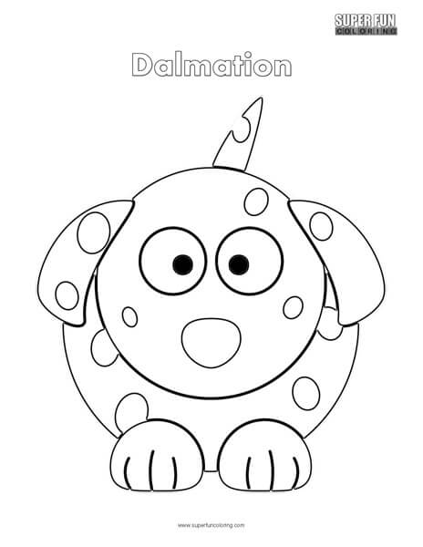 Cartoon Dalmation Coloring Page