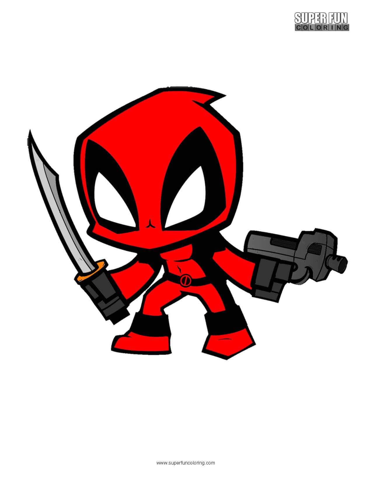 Deadpool Free Superhero Coloring Page