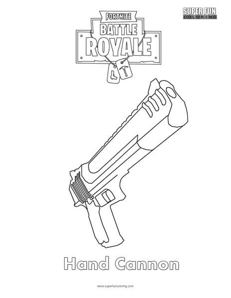 Hand Cannon Fortnite Coloring Page