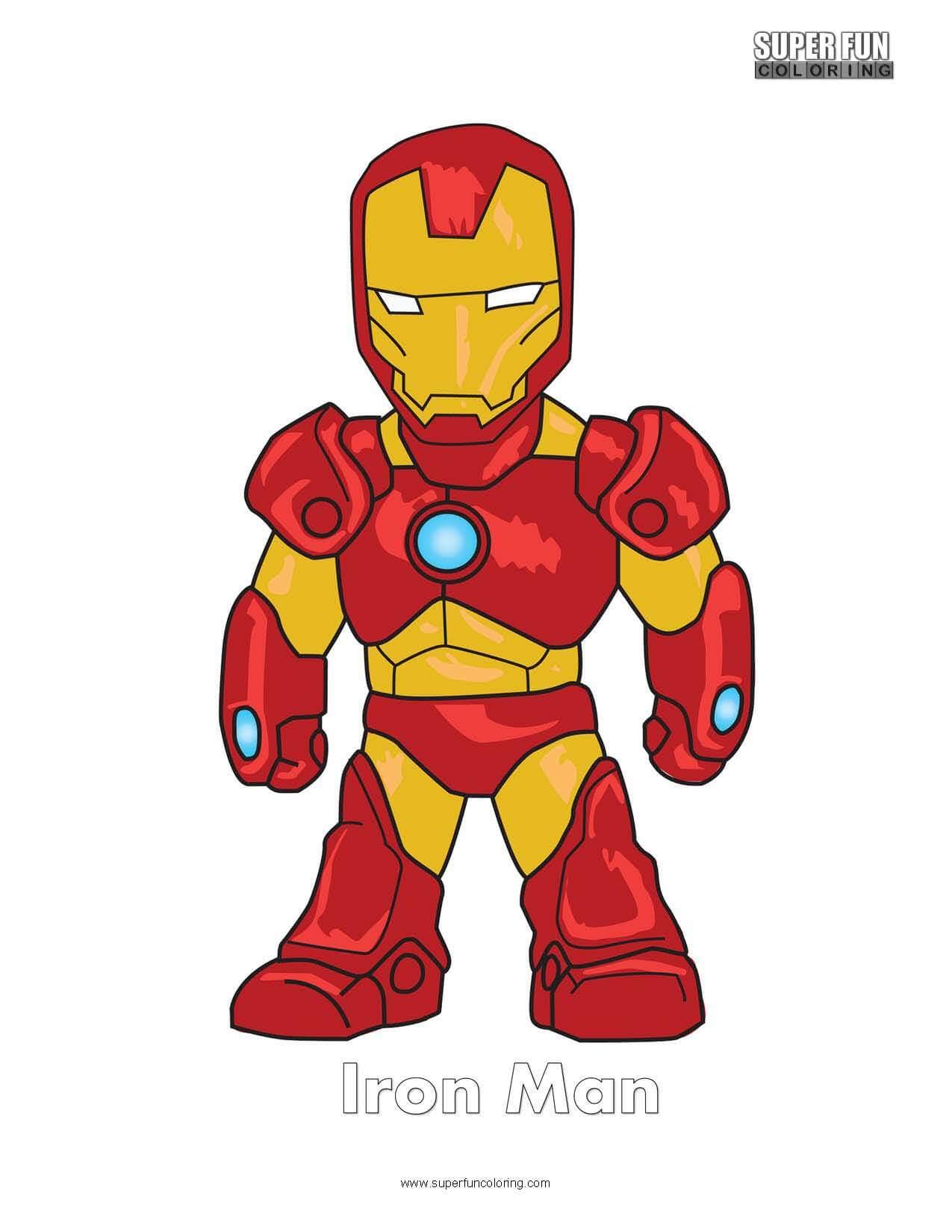 Iron Man Free Superhero Coloring Page