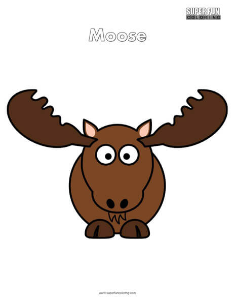 Cartoon Moose Coloring Page Free