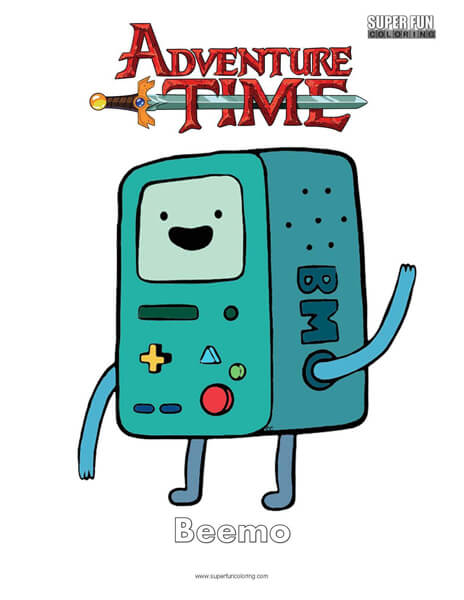 Beemo Adventure Time Coloring Page