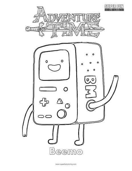 Beemo- Adventure Time Coloring Page