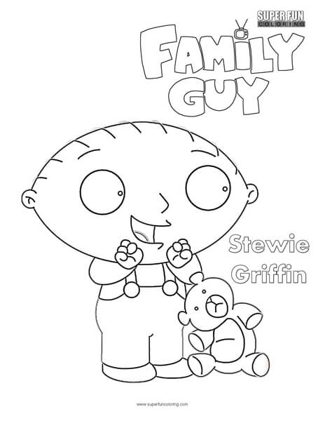 Stewie- Family Guy Coloring Page