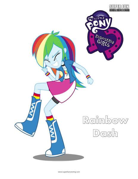 Rainbow Dash- My Little Pony Equestria Girls Coloring Sheet