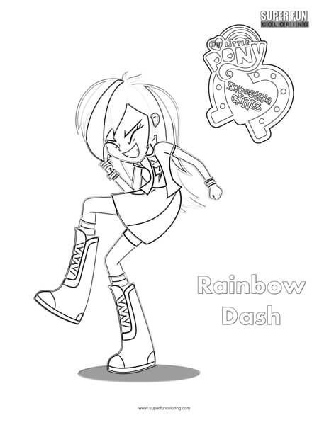 Rainbow Dash My Little Pony Coloring Sheet Super Fun Coloring