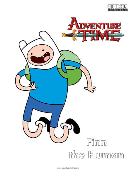Finn Adventure Time Coloring Page