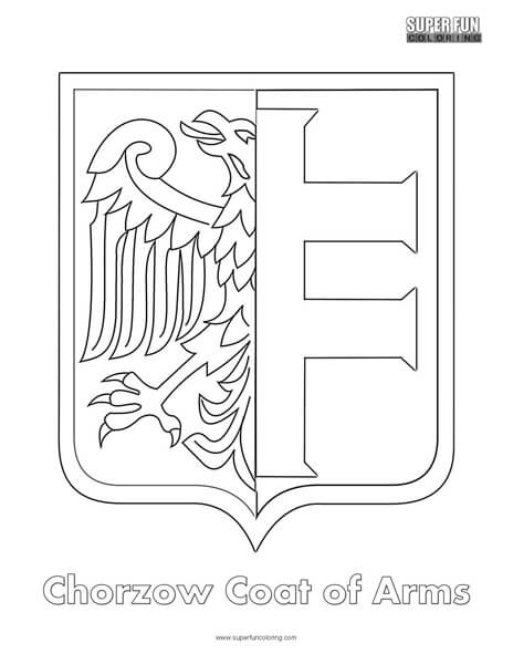 Chorzow Coat of Arms Coloring Page