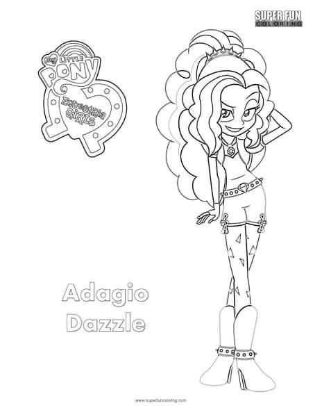 Adagio Dazzle- Equestria Girls Coloring Sheet