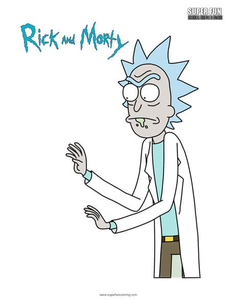 Rick- Rick and Morty Coloring Page