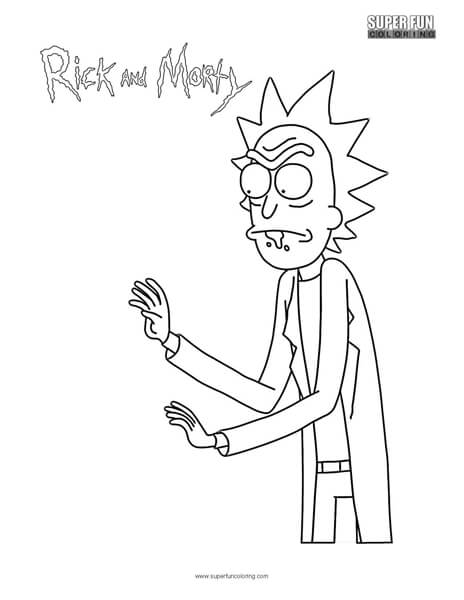 Rick- Rick and Morty Coloring Page
