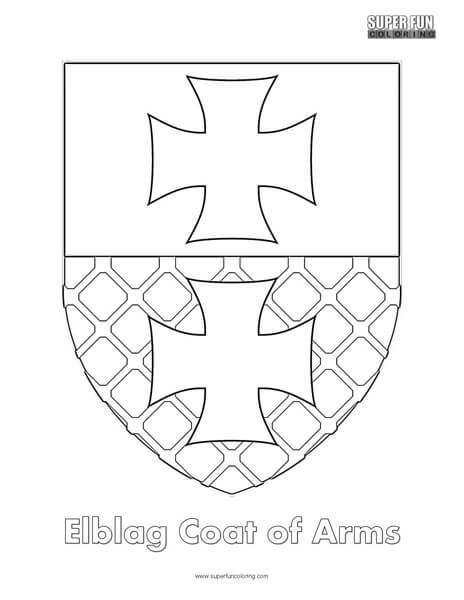 Elblag Coat of Arms Coloring Page