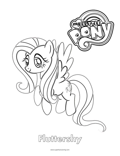 Fluttershy- My Little Pony Coloring Page