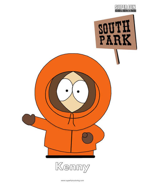 Kenny South Park Coloring Page