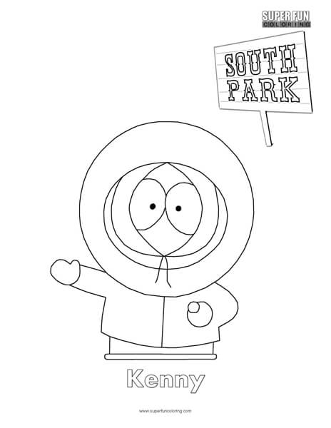 Kenny- South Park Coloring Page
