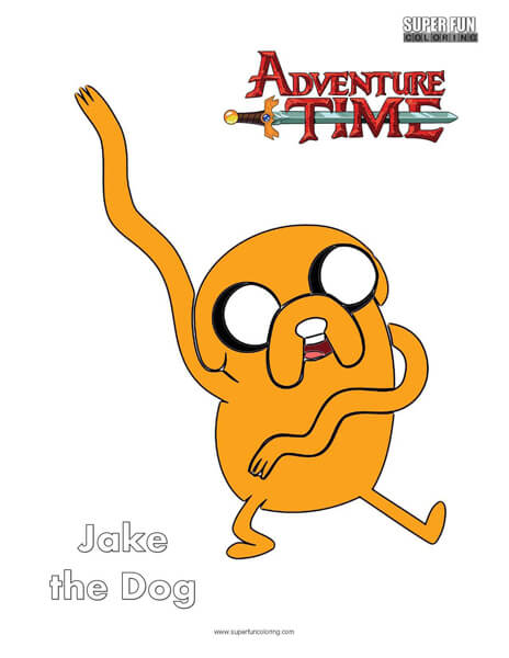 Jake the Dog Adventure Time Coloring Page