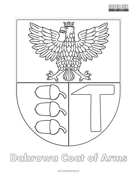 Dabrowa Coat of Arms Coloring Page