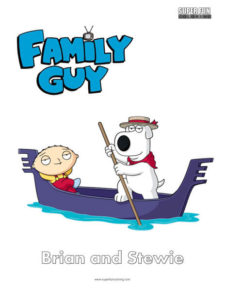 Brian Griffin Family Guy Coloring Sheet