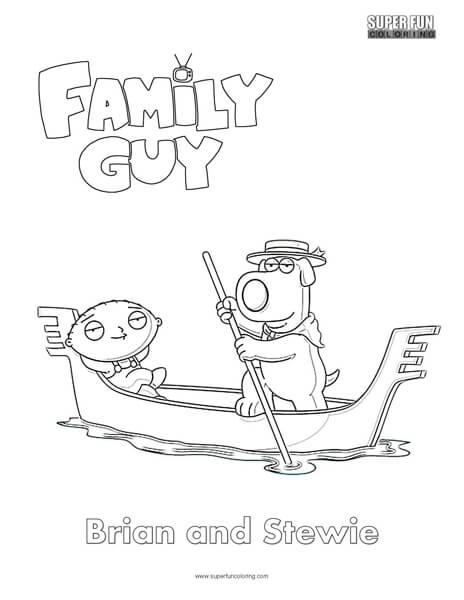 Brian and Stewie- Family Guy Coloring Page