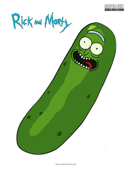 Pickle Rick- Rick and Morty Coloring Page