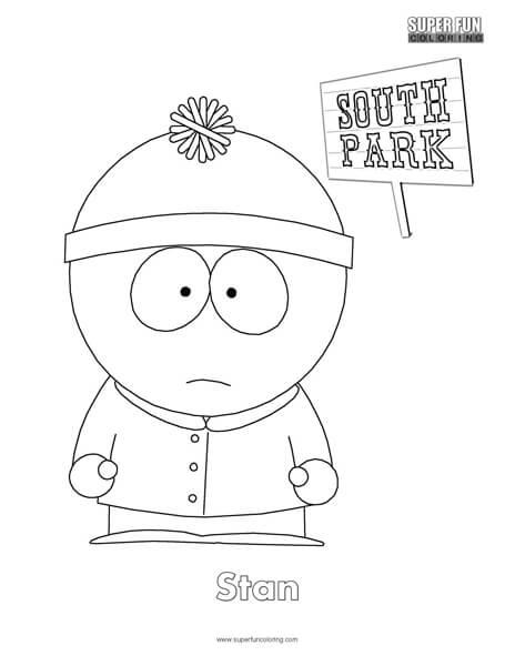 Stan- South Park Coloring Page