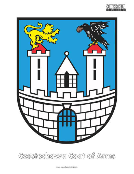 Czestochowa Coat of Arms Coloring